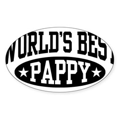 World's Best Pappy Sticker (Oval 10 pk)