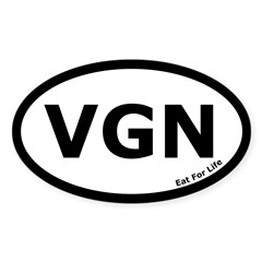 Vegan Euro Oval Sticker (Oval 10 pk)