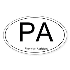 Physician Assistant Oval Sticker (Oval 10 pk)