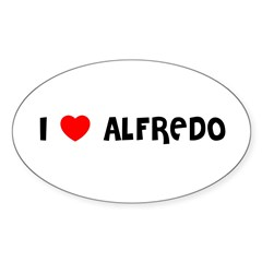 I LOVE ALFREDO Sticker (Oval 10 pk)
