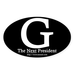 Guiliani 08 Rectangle Sticker (Oval 10 pk)