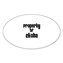 Property of Elisha Rectangle Sticker (Oval 10 pk)