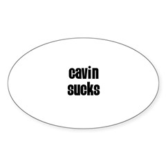Gavin Sucks Rectangle Sticker (Oval 10 pk)