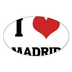I Love Madrid Rectangle Sticker (Oval 10 pk)