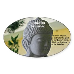 Eastern Philosophy: Buddha Rectangle Sticker (Oval 10 pk)