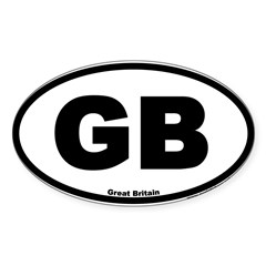 Great Britain GB Euro Oval Sticker (Oval 10 pk)