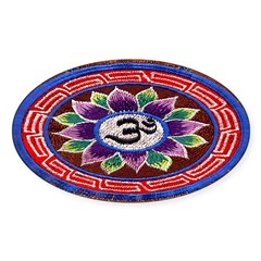 OM Tapestry Oval Sticker (Oval 10 pk)
