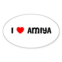 I LOVE AMIYA Sticker (Oval 10 pk)