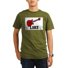 Guitar - Luke Organic Men's T-Shirt (dark)