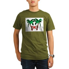 Macaw in Palms Organic Men's T-Shirt (dark)