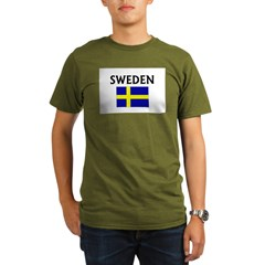 swedenflag.JPG Organic Men's T-Shirt (dark)