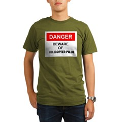 Beware/ Go Vertical Helicopter Ash Grey Organic Men's T-Shirt (dark)