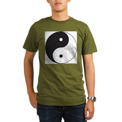 Ying Yang Yoga Organic Men's T-Shirt (dark)