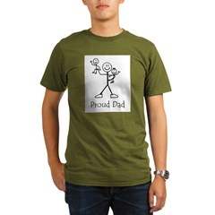 Proud Dad Ash Grey Organic Men's T-Shirt (dark)