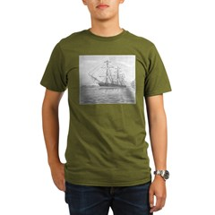 HMS Warrior Organic Men's T-Shirt (dark)