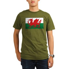 Wales Fla Organic Men's T-Shirt (dark)
