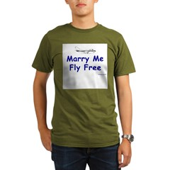 Marry Me, Fly Free Organic Men's T-Shirt (dark)