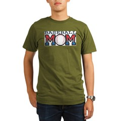 Baseball Mom Organic Men's T-Shirt (dark)