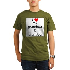 I love my grandma & grandpa Organic Men's T-Shirt (dark)