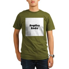 Angelica Rocks Organic Men's T-Shirt (dark)