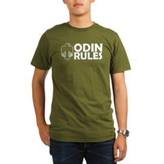 Odin Rules Organic Men's T-Shirt (dark)