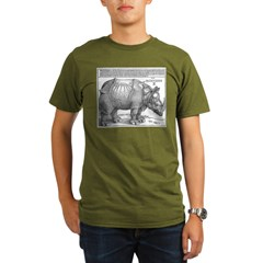 Durer Rhino Ash Grey Organic Men's T-Shirt (dark)