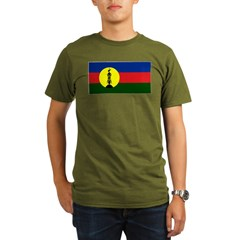 Flag New Caledonia Organic Men's T-Shirt (dark)