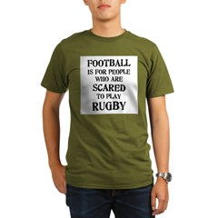 Rugby vs. Football 2 Organic Men's T-Shirt (dark)