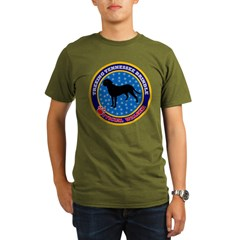 Treeing Tennessee Brindle Black Organic Men's T-Shirt (dark)