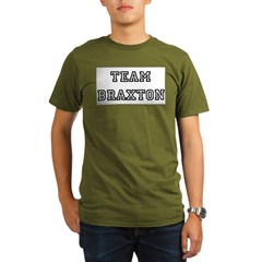 TEAM BRAXTON T-SHIRTS Ash Grey Organic Men's T-Shirt (dark)