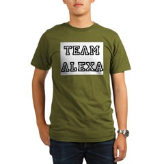TEAM ALEXA Ash Grey Organic Men's T-Shirt (dark)