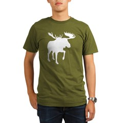 Moose Black Organic Men's T-Shirt (dark)