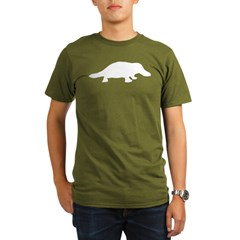 Platypus (Silhouette) Black Organic Men's T-Shirt (dark)