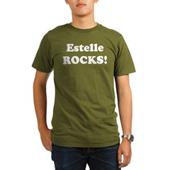 Estelle Rocks! Black Organic Men's T-Shirt (dark)