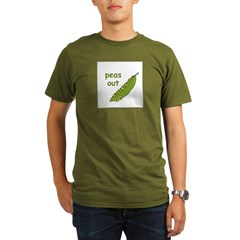Peas Out... Peace Out! Organic Men's T-Shirt (dark)