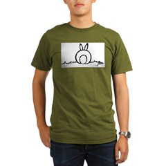 Cotton Tail Ash Grey Organic Men's T-Shirt (dark)