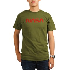 NASA Red Worm Lo Organic Men's T-Shirt (dark)