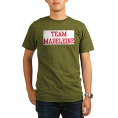 TEAM MADELEINE Ash Grey Organic Men's T-Shirt (dark)