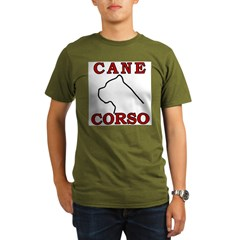 Cane Corso Logo Red Organic Men's T-Shirt (dark)