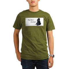 Scottish Terrier AKC Organic Men's T-Shirt (dark)