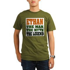 ETHAN - the legend! Organic Men's T-Shirt (dark)
