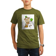 Leprechaun Monkey Organic Men's T-Shirt (dark)