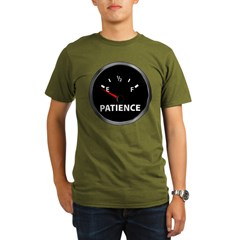 Out of Patience Fuel Gauge Organic Men's T-Shirt (dark)