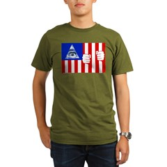 Flag Organic Men's T-Shirt (dark)