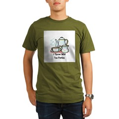 Wild Tea Parties Organic Men's T-Shirt (dark)