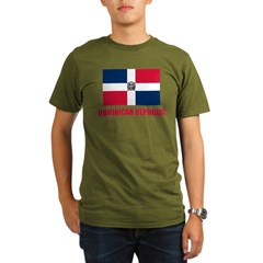 Dominican Republic Flag Organic Men's T-Shirt (dark)