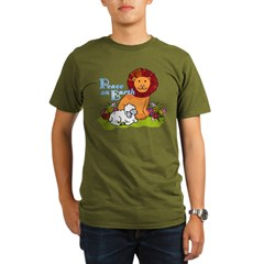 Lion & Lamb Peace On Earth Organic Men's T-Shirt (dark)