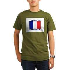 Toulon, France Organic Men's T-Shirt (dark)