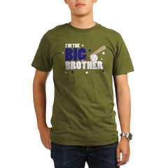 ADULT SIZES - big brother baseball Organic Men's T-Shirt (dark)