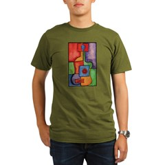 Colorful Guitar Organic Men's T-Shirt (dark)
